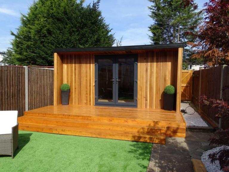 design and install Summerhouses Canadian Western Red Cedar